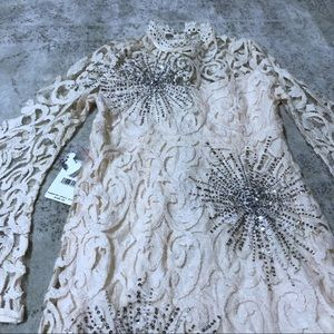 Free People Dresses - NWT Free People North Star Ivory Mini Dress Sz 6